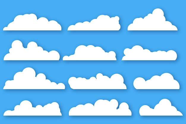 Flache wolkensammlung