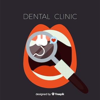Flache zahnmedizinische klinik hintergrund