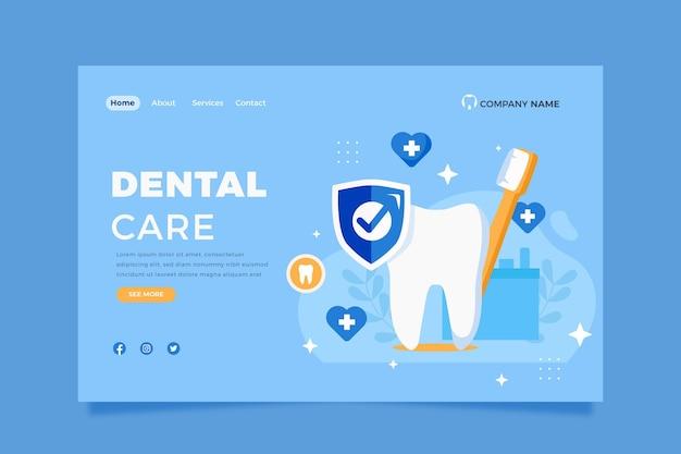 Flache zahnpflege-webvorlage