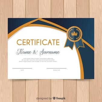Flache zertifikatvorlage