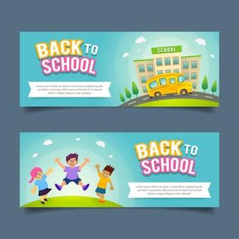 Flache zurück zu schule-banner