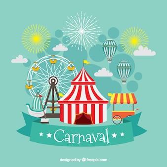 Flachen karneval hintergrund