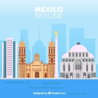 Flachen mexiko skyline hintergrund