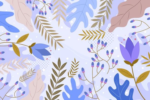 Flacher abstrakter blumenhintergrund