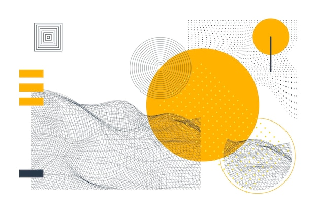 Flacher abstrakter drahtgitterhintergrund