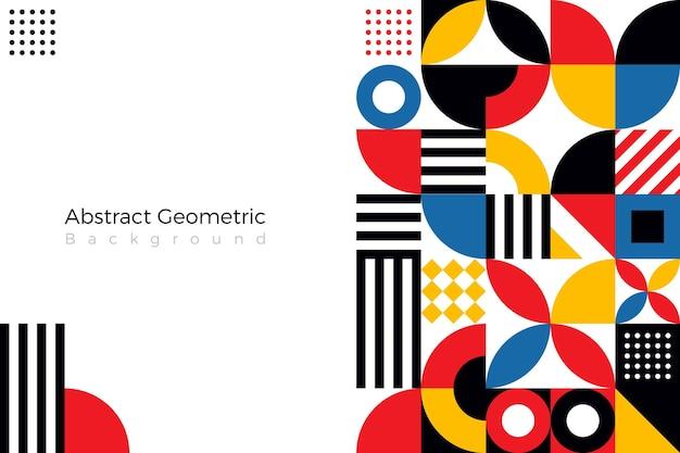 Flacher abstrakter hintergrund mit geomitrc-formen