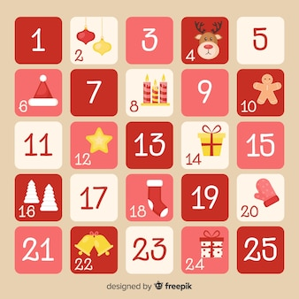 Flacher adventskalender