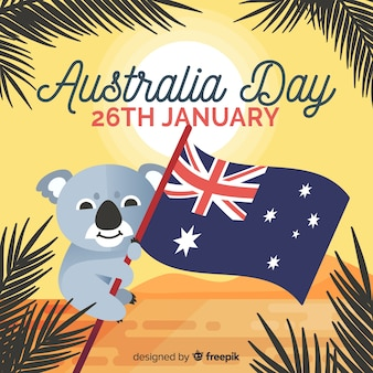 Flacher Australien-Tageshintergrund