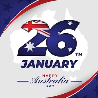 Flacher australischer tag am 26. januar