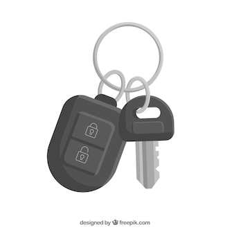 Flacher autoschlüsselhintergrund