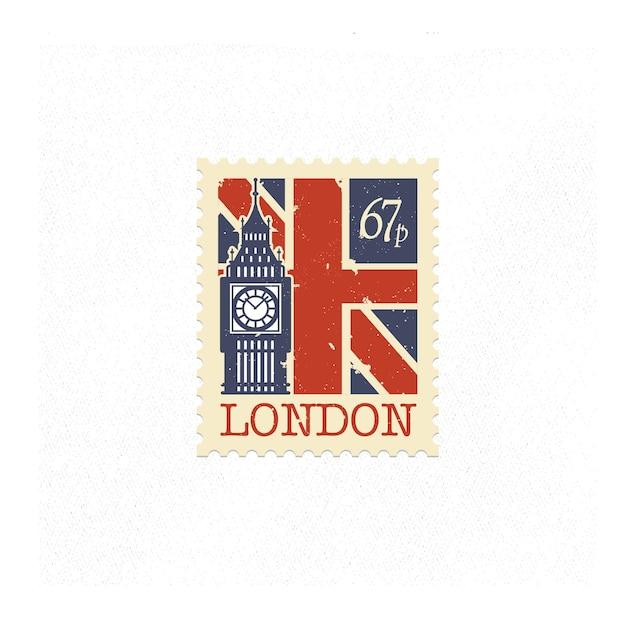 Flacher beitragsstempel london