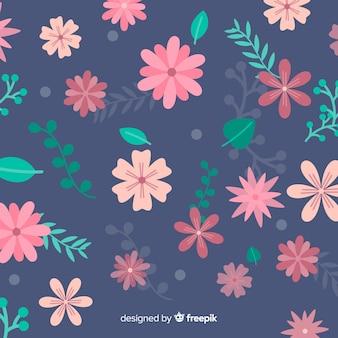 Flacher Blumenhintergrund