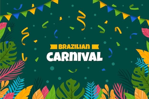 Flacher brasilianischer bunter karneval