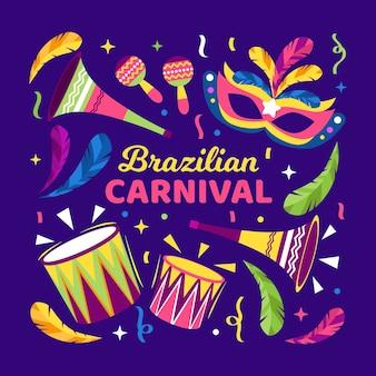 Flacher brasilianischer karneval