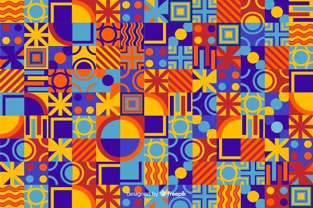 Flacher bunter geometrischer formhintergrund