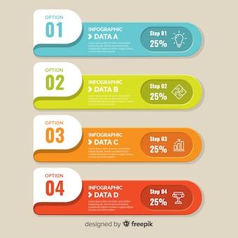 Flacher bunter infographischer hintergrund