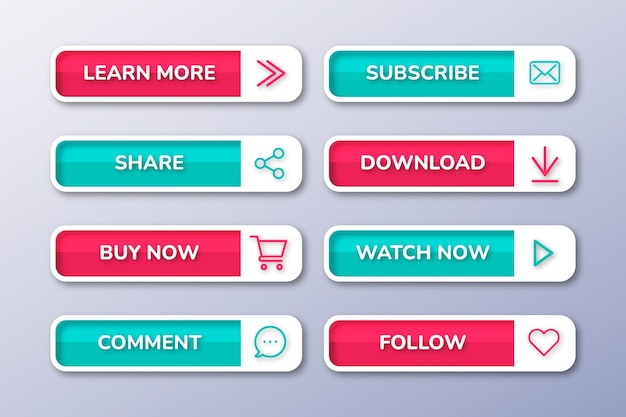 Flacher call-to-action-button-pack