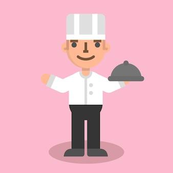 Flacher chefmann