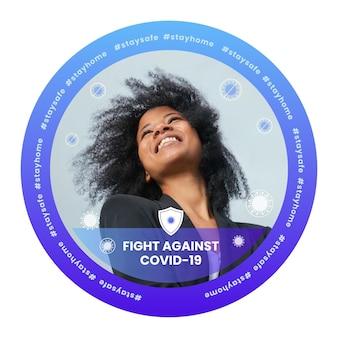 Flacher coronavirus-facebook-rahmen