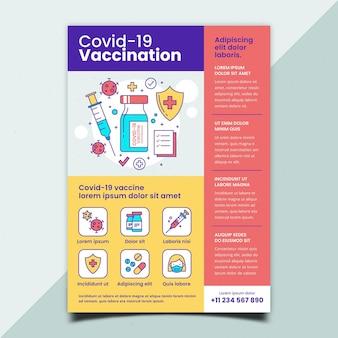 Flacher coronavirus-impfflyer