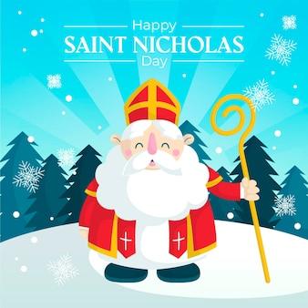 Flacher deisgn saint nicholas tag