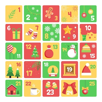 Flacher design-adventskalender