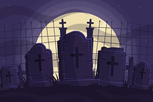 Flacher design-halloween-hintergrund