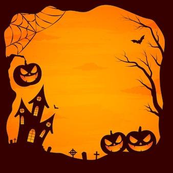Flacher design-halloween-rahmen