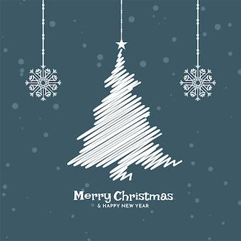 Flacher designhintergrund der frohen weihnachtsfeier