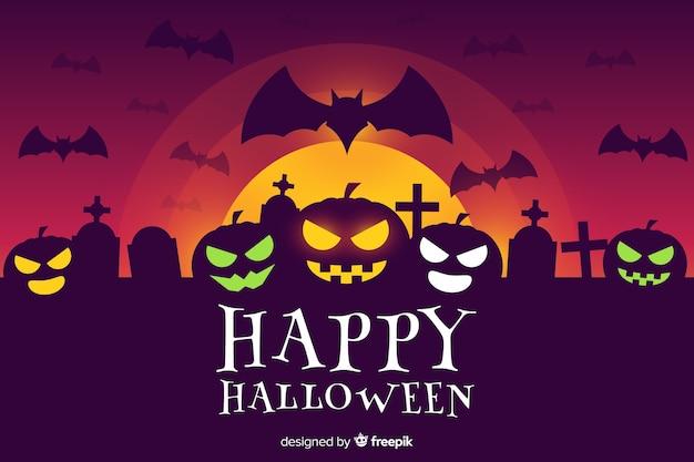 Flacher designhintergrund für halloween