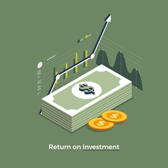 Flacher designkonzept return on investment