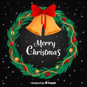 Flacher designtapeten-weihnachtskranz