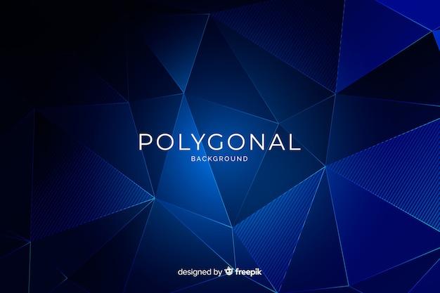 Flacher dunkelblauer polygonaler hintergrund