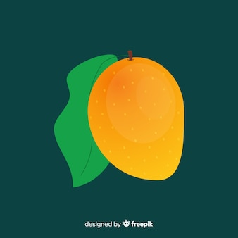 Flacher einfacher orange mangohintergrund