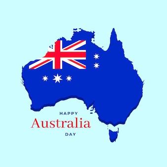 Flacher entwurf australien tag