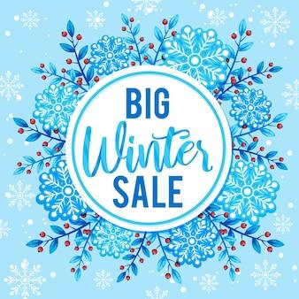 Flacher entwurf großer winterverkauf