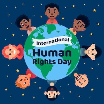 Flacher entwurf internationaler tag der menschenrechte
