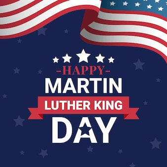 Flacher entwurf martin luther king day