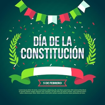 Flacher entwurf mexiko verfassungstag