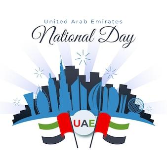 Flacher entwurf vereinigte arabische emirate nationalfeiertag