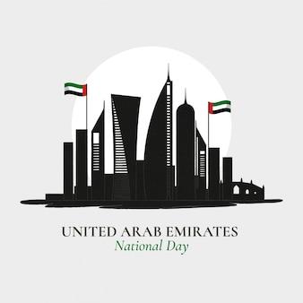 Flacher entwurf vereinigte arabische emirate tag