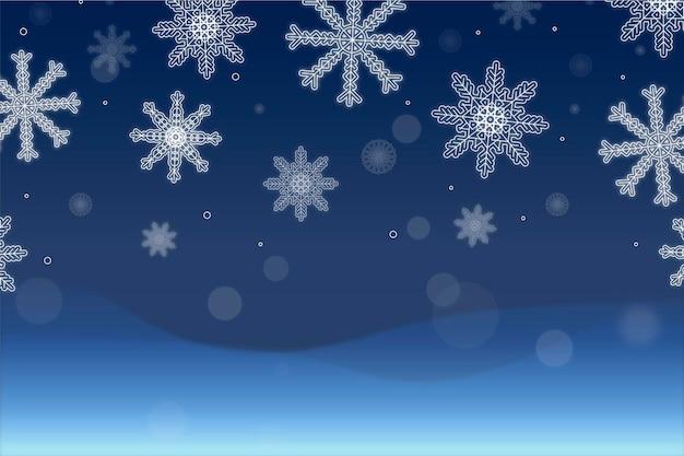 Flacher entwurf winterhintergrund