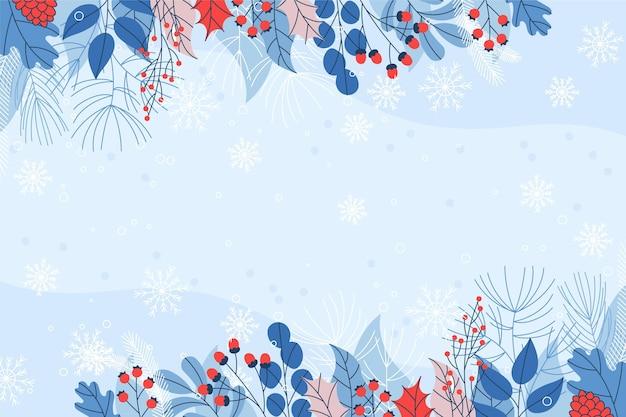 Flacher entwurfskopierraum winterhintergrund