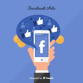 Flacher Facebook-Anzeigenhintergrund