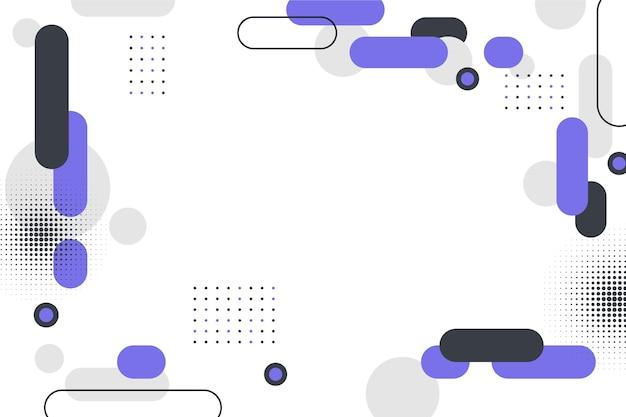 Flacher geometrischer hintergrund mit leerem raum
