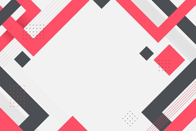Flacher geometrischer hintergrund