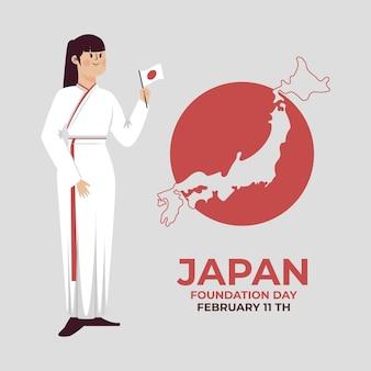 Flacher gründungstag japan