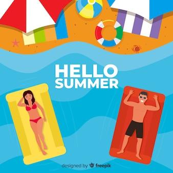 Flacher hallo sommerhintergrund