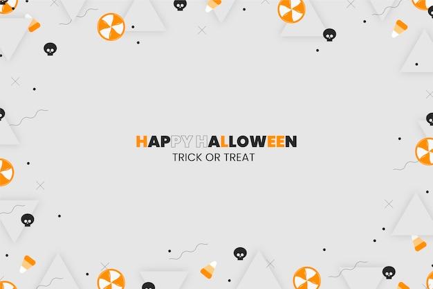 Flacher halloween-hintergrund
