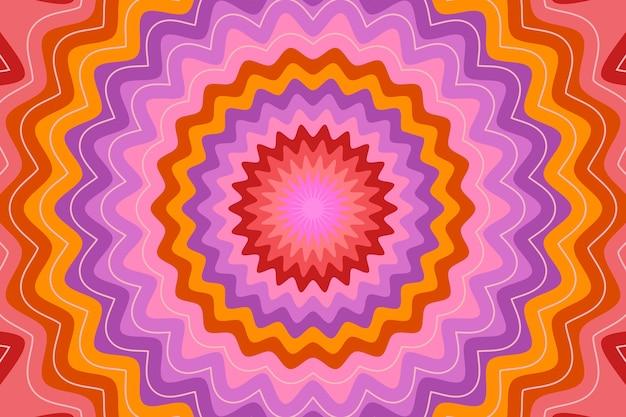 Flacher hand gezeichneter psychedelischer grooviger hintergrund